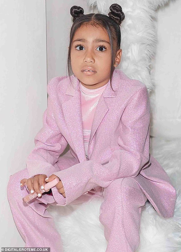 Family business: Jenner recently revealed which of her nieces has the best style:'I have to say North because she actually dresses herself at this point and likes to create outfits'