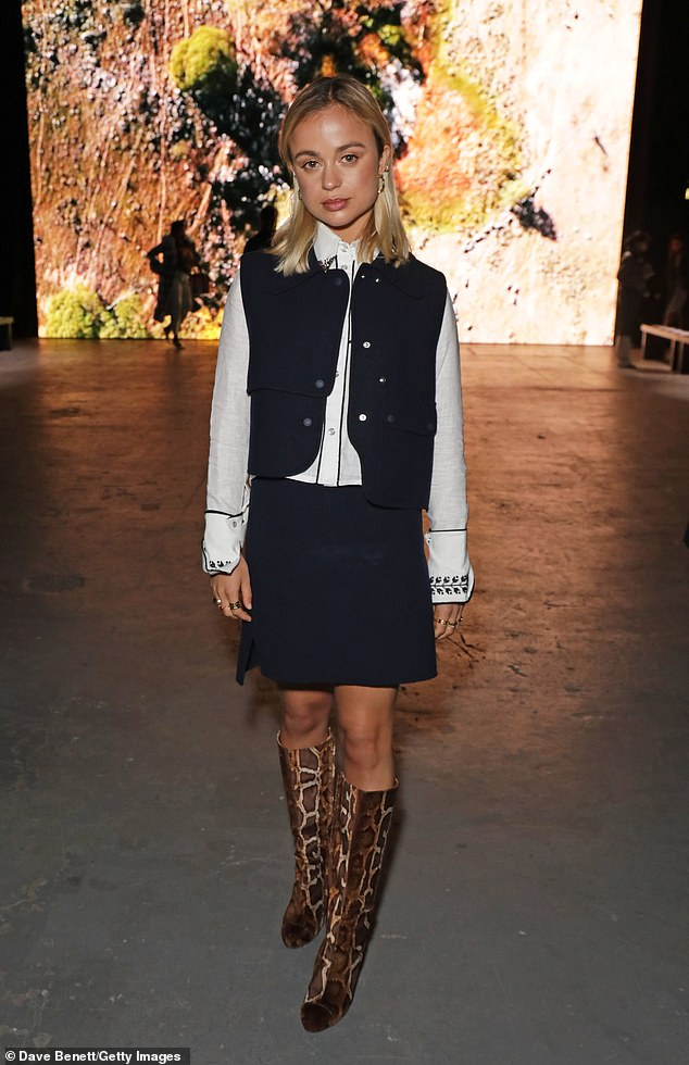 Proving she can rock any look, Amelia soon swapped the look for a business inspired ensemble at the International Woolmark Prize 19/20 Final at the University of Westminster