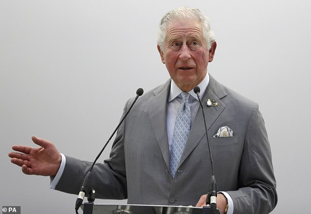The Prince of Wales delivers a speech during a visit to officially open the National Automotive Innovation Centre (NAIC) in Coventry on Tuesday