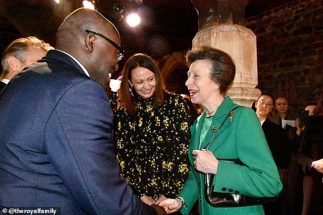 Princess Anne was also introduced to British Vogue editor-in-chief Edward Enninful, a close friend of the Duchess of Sussex who worked with the royal on her Forces For Change edition