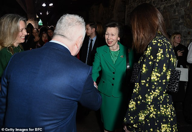 Princess Anne withCaroline Rush (left),Chief Executive of the British Fashion Council yesterday