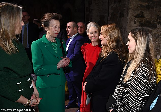 The Princess Royal also spent time meeting other designers at the London presentation