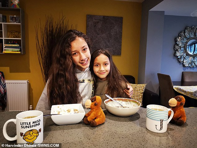 Asha Fitzpatrick, 12, (left) and her 10-year-old sister Jia (right) stopped eating Kellogg's cereals, and petitioned for the firm to improve its palm oil policy