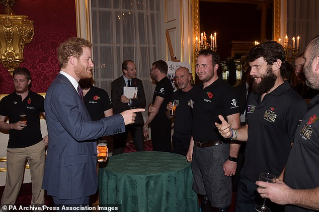 Harry speaks to guests at a reception for the Endeavour Fund at St James's Palace in2015