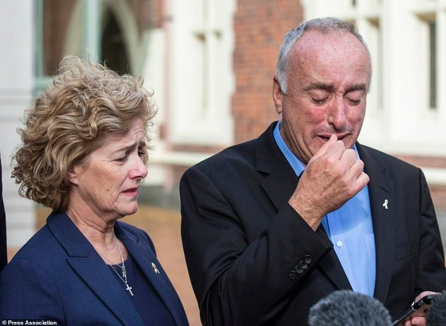 After Kempson was found guilty of Ms Millane's murder, her father Mr Millane and her mother, Gillian Millane, wept, as did several jurors after the verdict last year