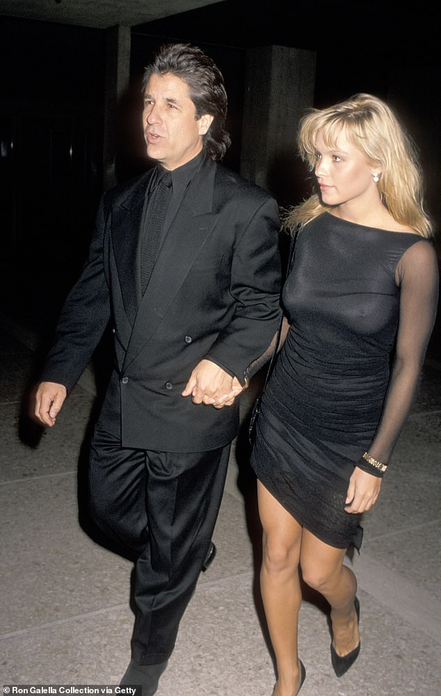 The way they were: The two had been friends for 30 years, following a brief relationship, but never lived together. Seen here in 1989 when they briefly dated