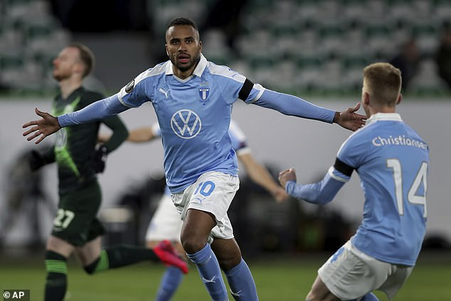 Isaac Kiese Thelin scored at both ends as his Malmo side fell to a 2-1 defeat against Wolfsburg