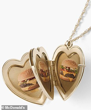 Swag: The candles were part of a Quarter Pounder Fan Club collection of merchandise, which also includes a locket