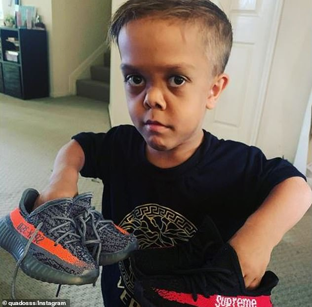 While trolls continue to spread rumours, Quaden (pictured) has received an outpouring of international support, including from Hugh Jackman and comedian Brad Williams