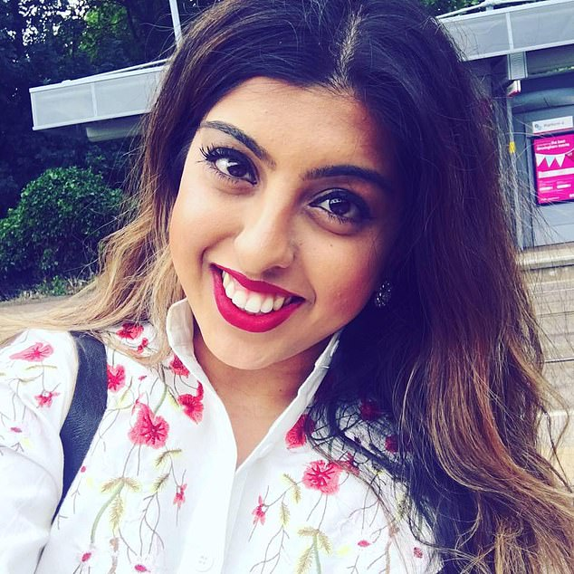 Trainee lawyer Meera Solanki (pictured), from Solihull, was out with friends to celebrate his 29th birthday