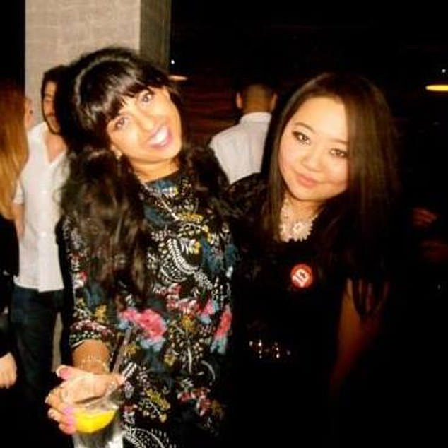 Meera Solanki (left) pictured with Mandy Huang (right), 28, visiting London for Miss Solanki's 29th birthday