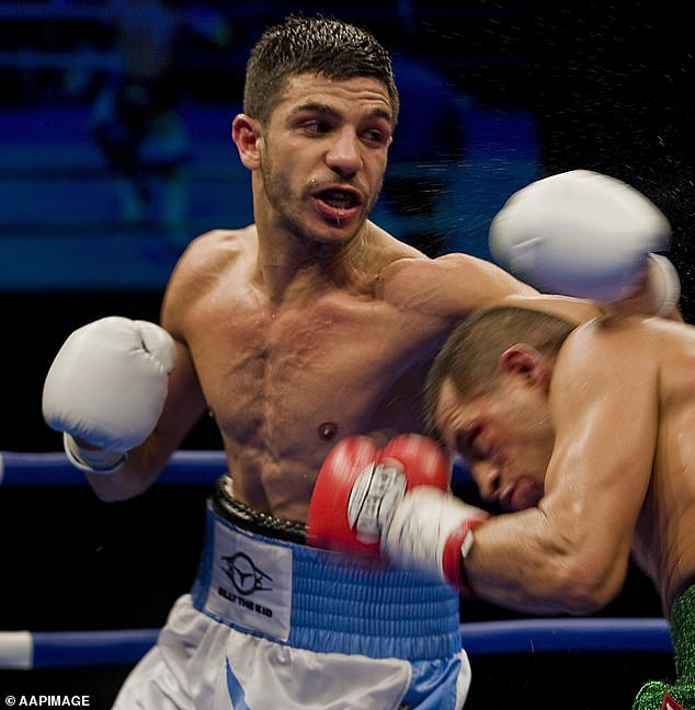 Australian world champion boxer Billy Dib (left) shared his support, as well as offering free training sessions for the youngster