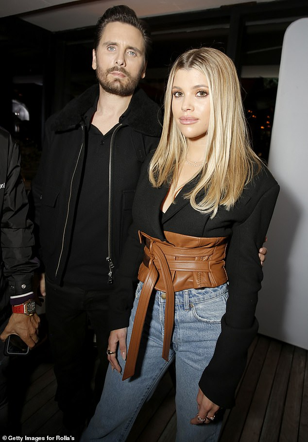 Yum! Sofia Richie, 21, and Scott Disick, 36, were as solid as ever after she shared a video on Monday of a bag of McDonald's he delivered to her private jet; shown Thursday