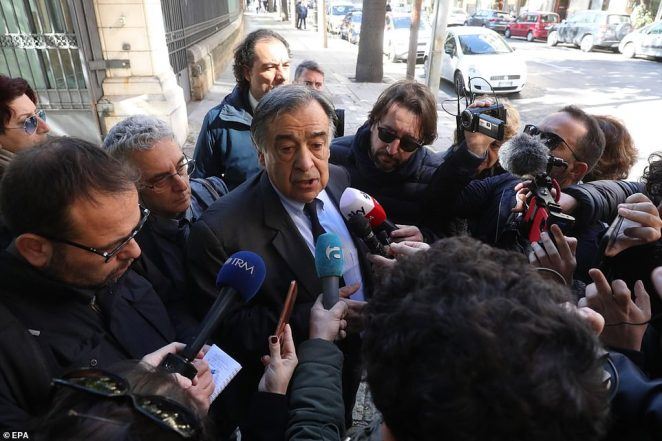 Mayor of Palermo Leoluca Orlando speaks to the media abouth the ongoing coronavirus emergency in the Sicilian capital