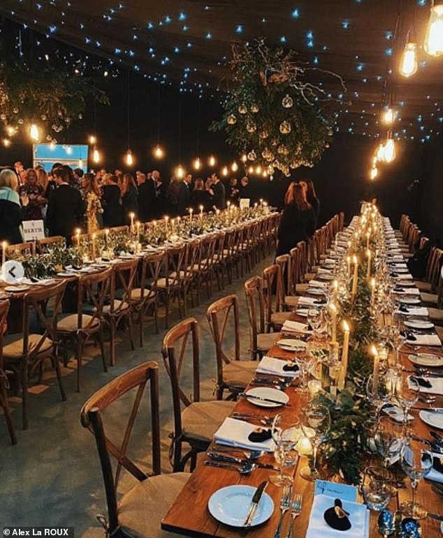 The venue appeared to have a rustic theme, with beautiful lights and table decorations taking centre stage