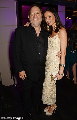 Harvey Weinstein and Georgina Chapman at the Marchesa 2015 after party in London