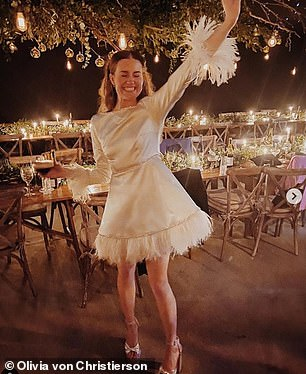 Olivia von Christierson, a power buyer at Net A Porter, shared sweet images of Molly dancing into the evening.