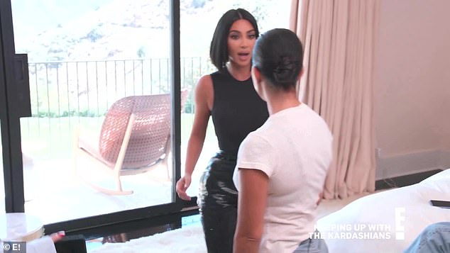 Getting ugly: Kim and Kourtney Kardashian get in a physical fight in the new season of Keeping Up With The Kardashians