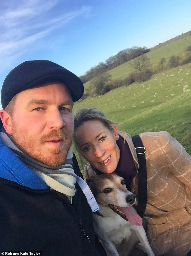 Kate Taylor, 42, from Calne, Wiltshire, adopted her cross-breed Poppy, 13, when she was only ten weeks old while struggling to conceive with her husband, Rob, and says she dotes on the pup the way she would a child