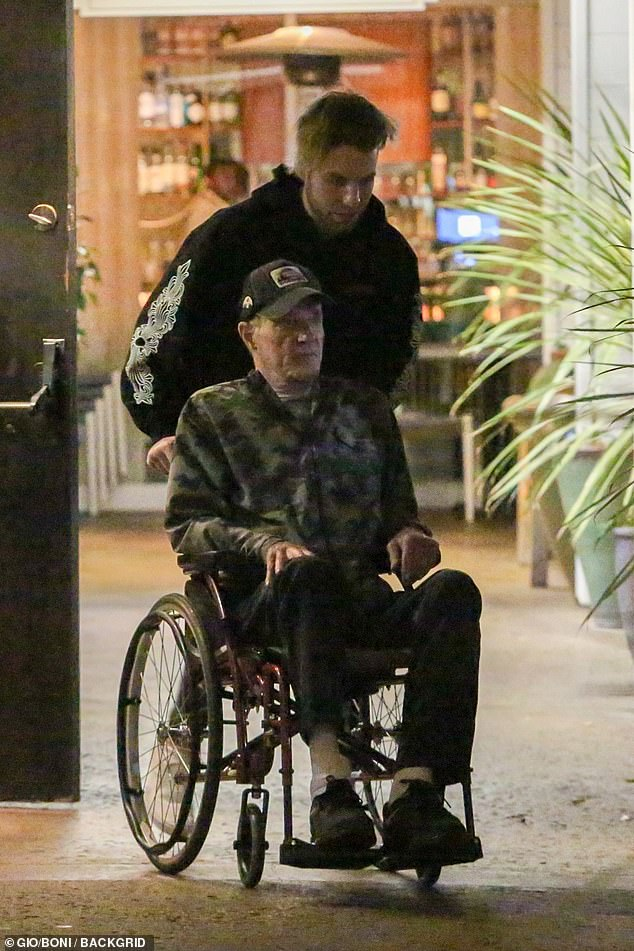 Low-key:The Godfather star, 79, was seen enjoying some quality time with his youngest child, 21, as they headed for dinner at the Vibrato Grill Jazz in Los Angeles