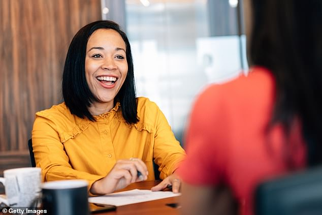 Director at Hays recruitment agency Jason Walker said words like 'obviously', 'we' and 'workaholic' should be avoided at all costs in interviews (stock image)