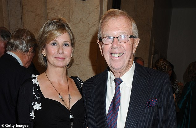 Medwin and his guest pictured attending the opening of Greens Restaurant and Oyster Bar on September 1, 2009, in London