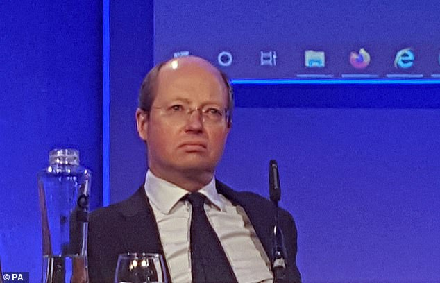 Sir Philip Rutnam, pictured at a police summit yesterday, is alleged to have refused to obey the order because of its timing