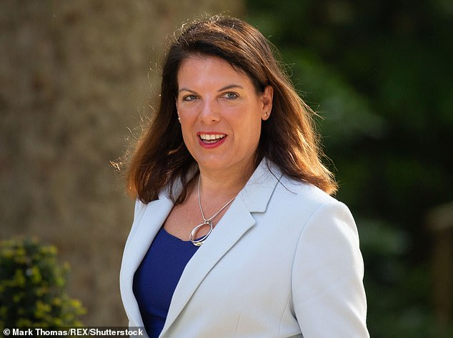 Caroline Nokes, pictured in Downing Street in May 2019, is now the chairman of the Women and Equalities Select Committee. She has attacked Boris Johnson in an interview with The House magazine