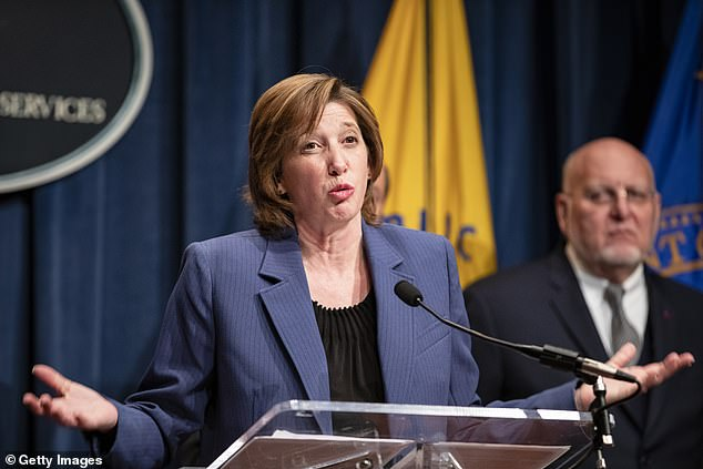 National Center for Immunization and Respiratory Diseases Director Nancy Messonnier speaks during a press conference today at the Department of Health and Human Services on the coordinated public health response to the 2019 coronavirus (2019-nCoV) on January 28, 2020 in Washington, DC