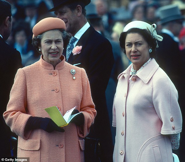 Family struggle: Lacey said the Queen saw the 'same dramas and tensions played out two generations ago.' She's pictured with her sister in 1979