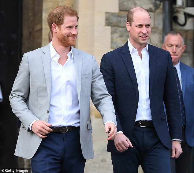 Strain: Harry and Prince William were close growing up, but they have reportedly grown apart since his marriage to Meghan Markle. They're pictured in 2018 ahead of Harry's wedding