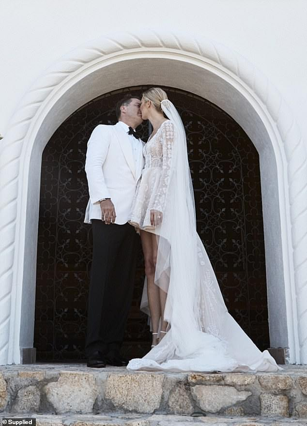 Happy ever after: Karl and Jasmine began dating in late 2016 and married in December 2018 at the One&Only Palmilla resort in Cabo, Mexico
