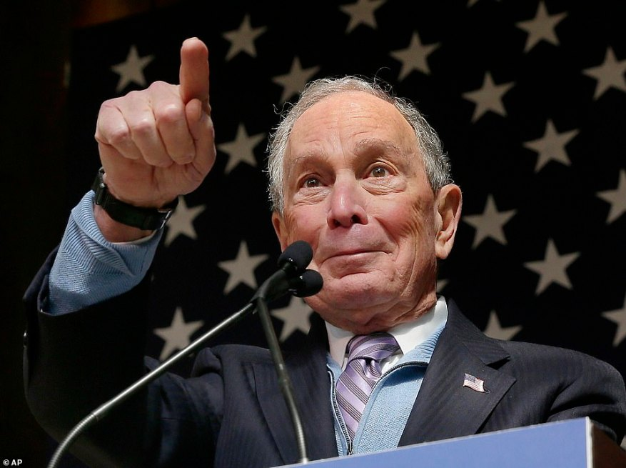 Democratic presidential candidate Michael Bloomberg speaks during a rally at The Rustic Restaurant in Houston, Texas, on Thursday. His campaign pressured rival Bernie Sanders to release more information about his heart health after doctors proclaimed the billionaire was in 'great physical shape'