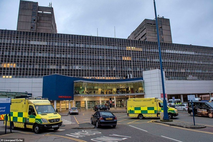 The Buxton mother was reportedly whisked off to a hospital in Liverpool by medics in hazmat suits alongside her boyfriend – health officials confirmed one of the two cases in England that were confirmed had been taken to the Liverpool hospital