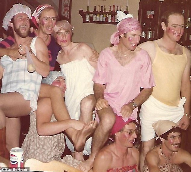 Fun factor: Dress-up night with a Contiki group in Rome in 1979