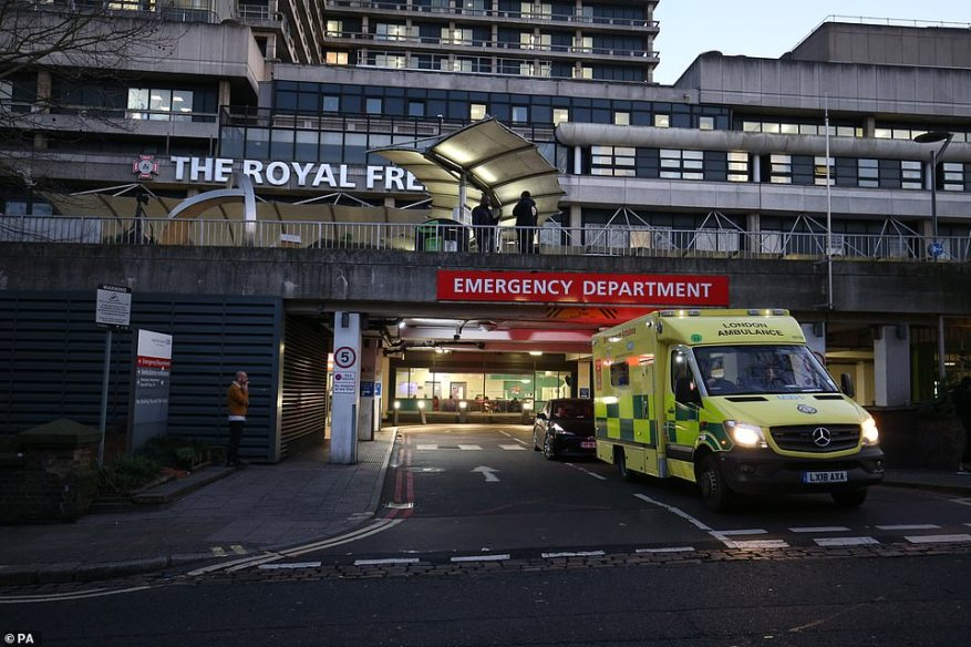 Both new cases in England were infected in Iran and were rushed to the Royal Free Hospital in London for urgent NHS treatment