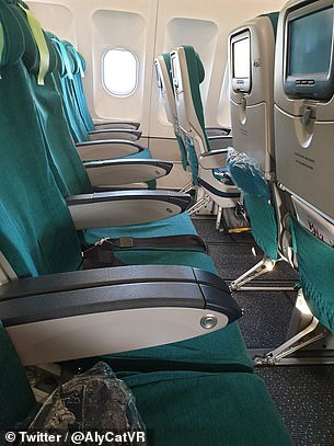 'Never have a seen a more empty plane going to Seattle' this traveler said on Thursday