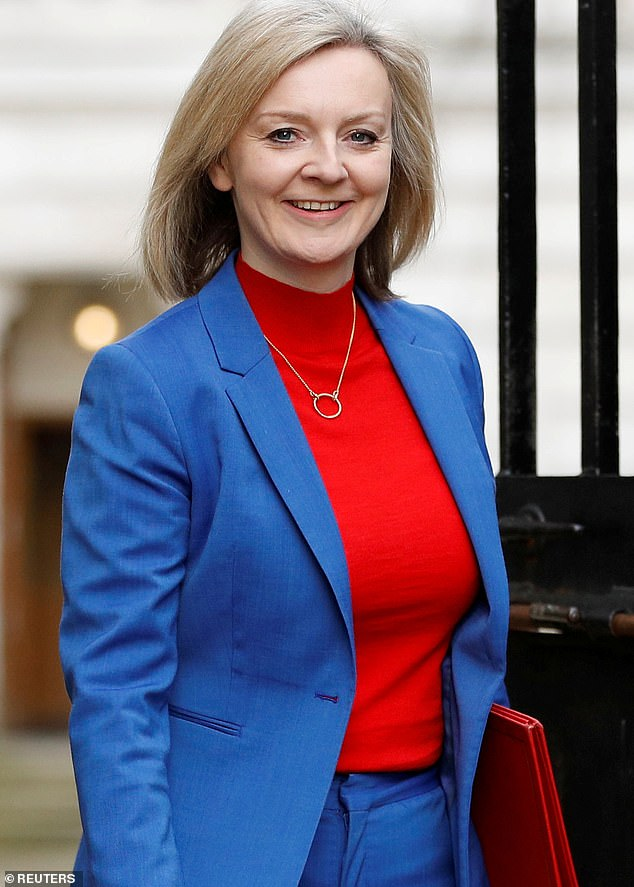Trade Secretary Liz Truss (pictured on February 14) is to publish a blueprint for trade talks with the United States about allowing infarm produce, on Monday