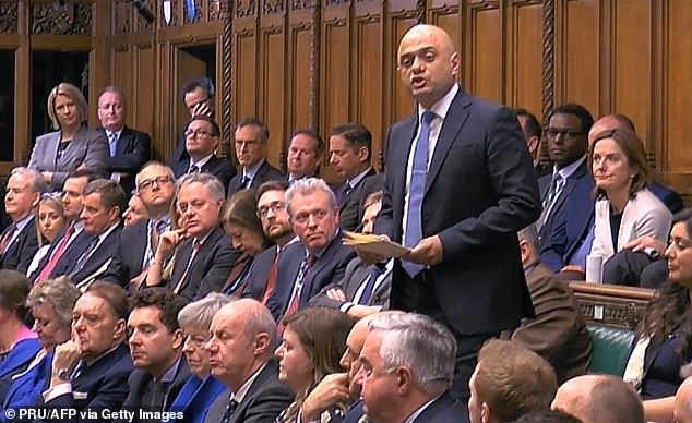 Mr Javid warned that the merging of Treasury and No 10 teams ordered by Mr Cummings would stifle debate and was 'not in the national interest'