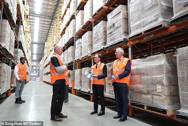 Health Minister Greg Hunt visited a national warehouse of medical supplies on January 24, saying Australia has 20 million single-use masks. WHO announced global shortage of personal protective equipment on February 7