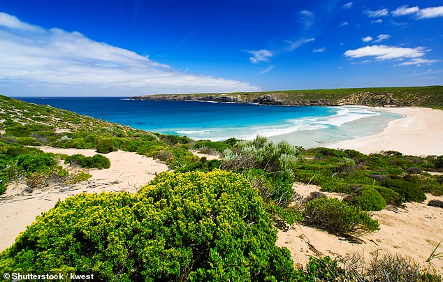 The stunning West Bay on Kangaroo Island.About half of Kangaroo Island in South Australia continues to be 'partially impacted' by the fires.But visits to the unaffected part of the island are still safe
