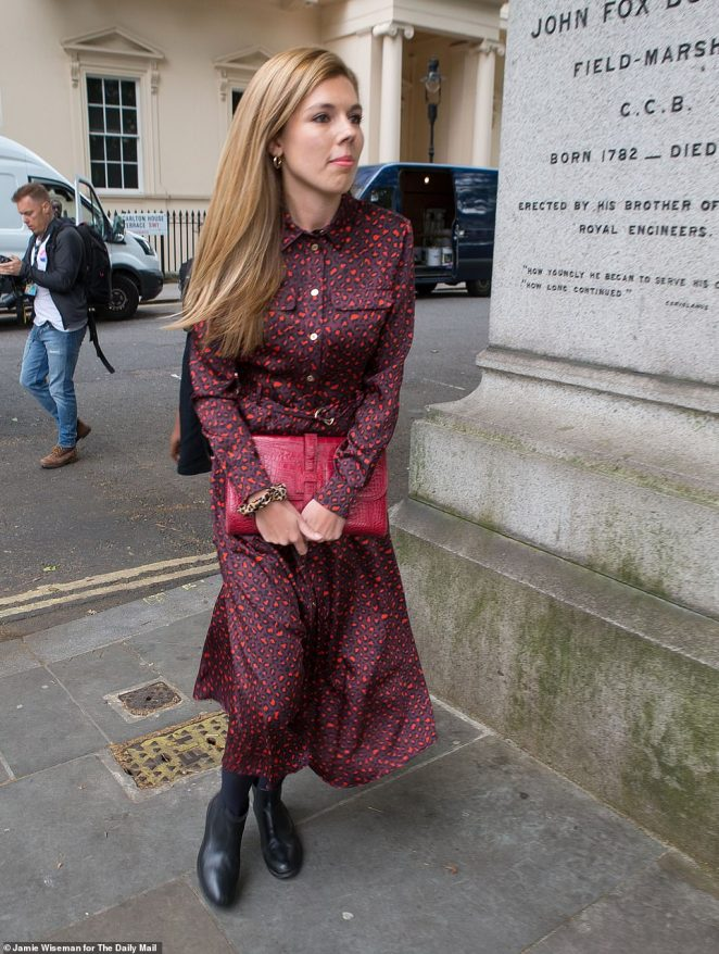 Her own image has also noticeably changed, her outfits and Instagram posts becoming more conservative as her relationship with Mr Johnson grew more serious