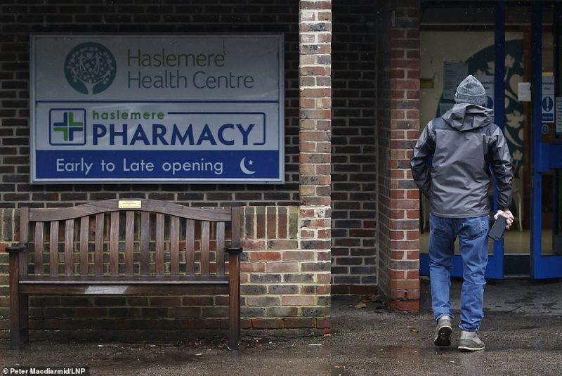 The patient, from Surrey, is understood to be a man who was treated at Haslemere Health Centre before being transferred to Guy's and St Thomas' hospital in London. The health centre has opened today following a deep clean