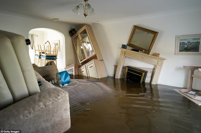 A home in East Cowick has been turned upside down after the River Aire burst its banks on Sunday following heavy rain