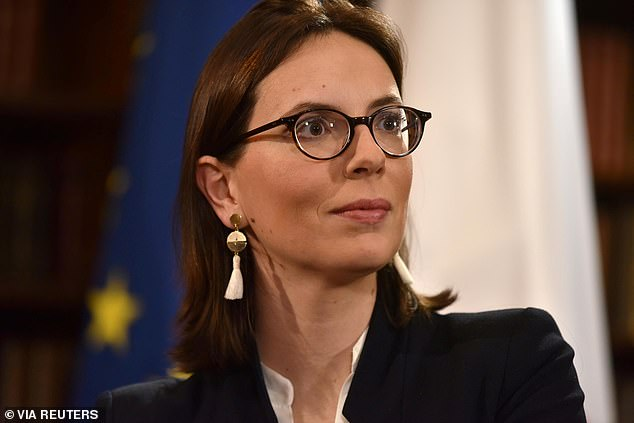 Amelie de Montchalin (pictured on the BBC's Andrew Marr show yesterday) said that an agreement between London and Brussels hinged on four factors, with a failure of any one able to kibosh chances of a deal