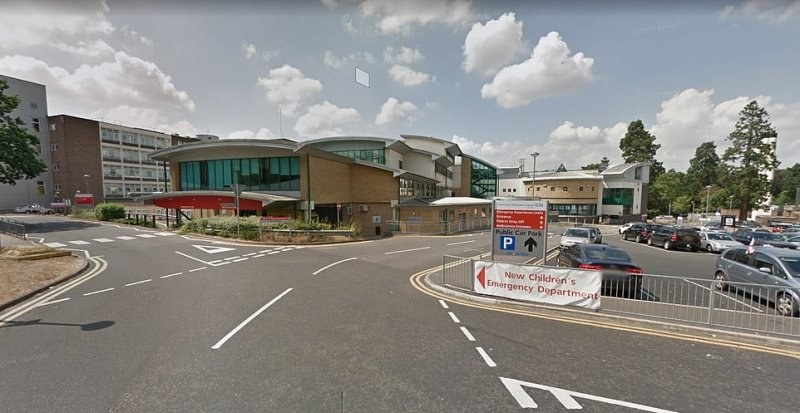 Princess Alexandria Hospital in Harlow, Essex, (pictured) was also revealed to be one of the locations where a coronavirus case has been identified over the weekend