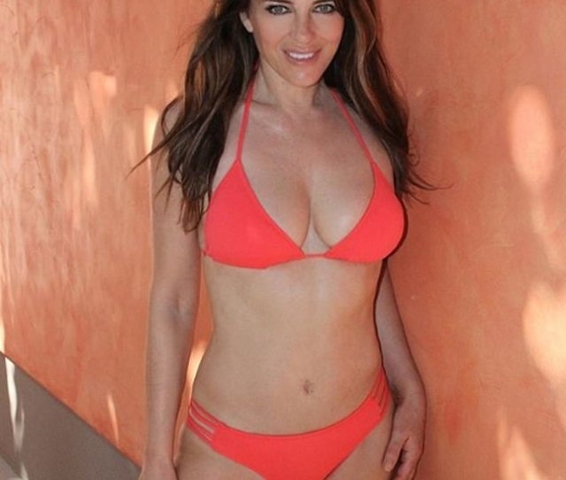 Elizabeth Hurley  Shows Off Her Phenomenal Figure In A Tiny