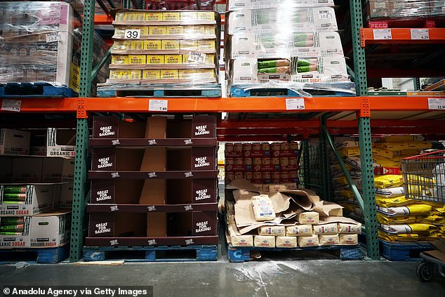 Over the weekend pictures of empty shelves at grocery stores in New York emerged