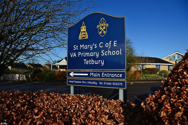 St Mary's Church of England Primary School in Tetbury, Gloucestershire, today where a member of staff tested positive for Covid-19 on Saturday. It is closed for deep cleaning until Wednesday