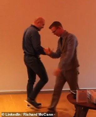 After the event the two left the stage without actually shaking hands in a move Mr McCann said could be due to 'paranoia'